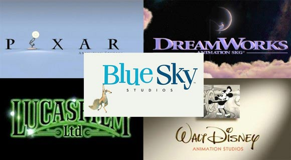 Pixar Dreamworks Bluesky Lucasfilm Disney